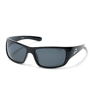 Polaroid Rectangular Wrap Sport Sunglasses