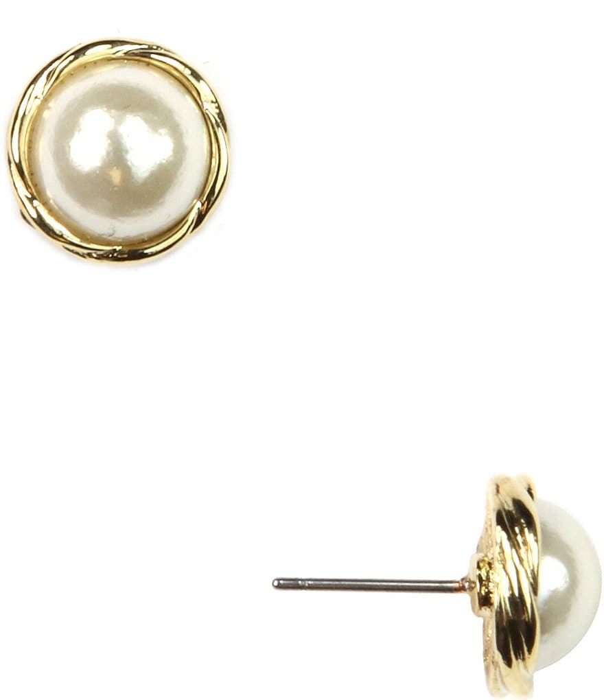Anne Klein Pearl Earrings