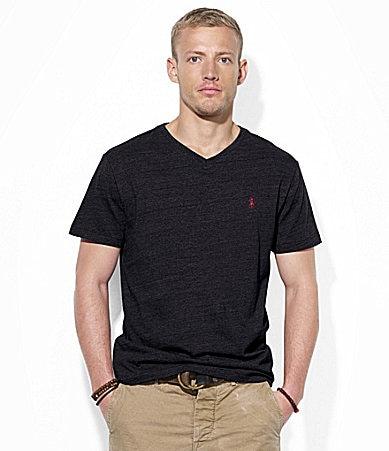 Polo Ralph Lauren Medium-Fit Short-Sleeved Cotton Jersey V-Neck Tee