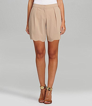 Gibson & Latimer Scalloped-Hem Shorts