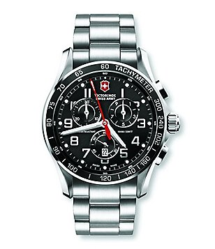 Victorinox Swiss Army Chrono Classic XLS Black Dial SS Men´s Bracelet Watch