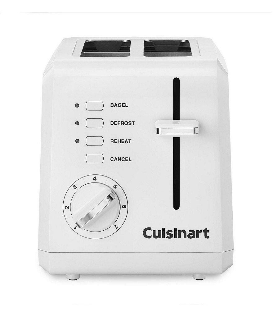 Cuisinart White Compact 2-Slice Toaster