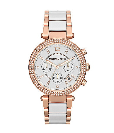 Michael Kors Parker White & Rose Bracelet Watch