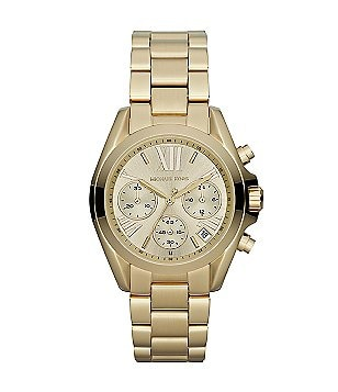 Michael Kors Gold Mini Bradshaw Stainless Steel Chronograph Bracelet Watch