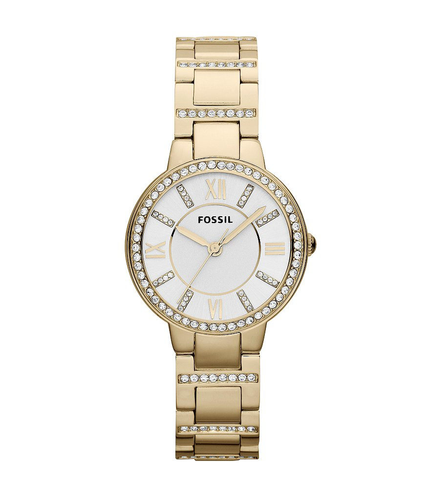 Fossil Virginia Gold-Tone Bracelet Watch