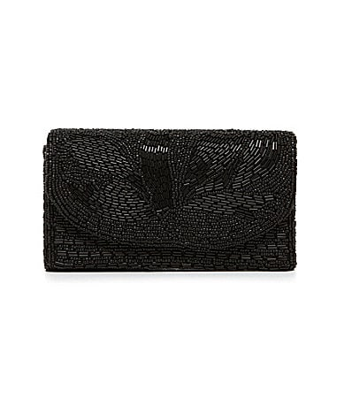 Kate Landry Social Beaded Flap Clutch