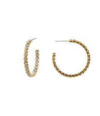 Nadri Bezel Hoop Earrings