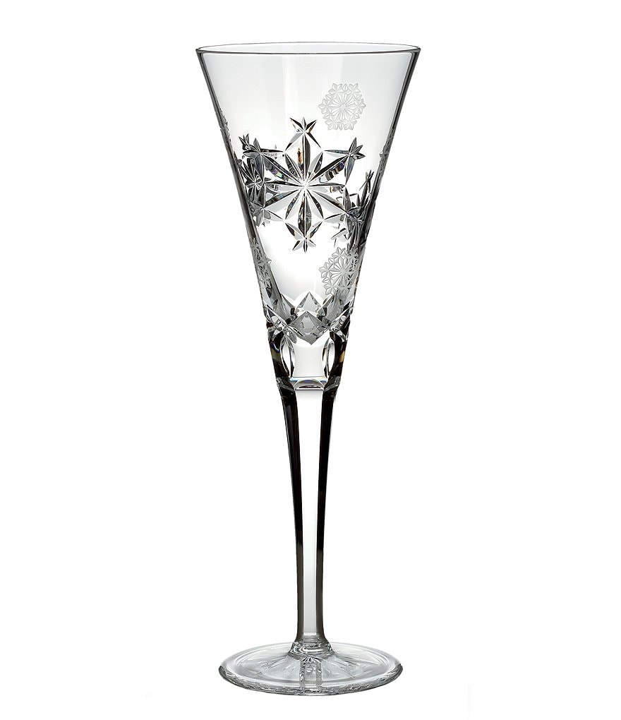 Waterford Snowflake Wishes Collection 3rd Edition Goodwill Champagne Flute