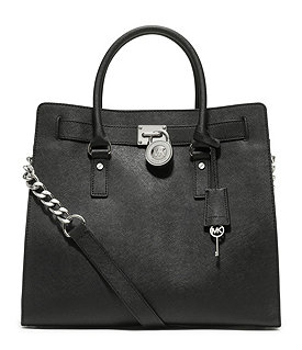 MICHAEL Michael Kors Hamilton Large North/South Leather Tote Image