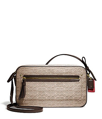 COACH POPPY FLIGHT BAG CROSSBODY IN MINI OXFORD SIGNATURE C