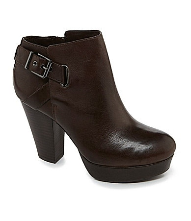 GB Spot-Lite Buckle-Detail Platform Booties