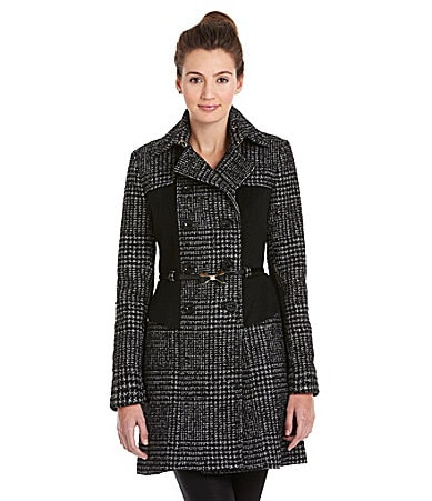 Betsey Johnson Peplum Belted Coat