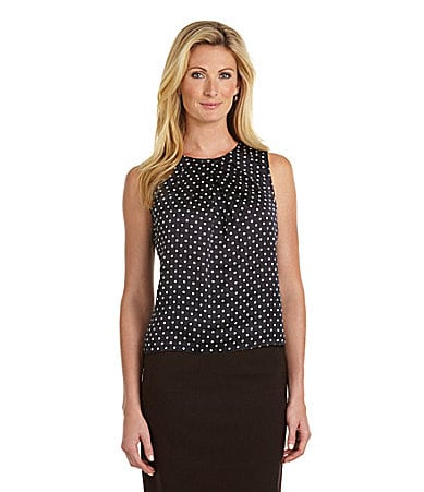 Jones New York Collection Polka-Dot Blouse