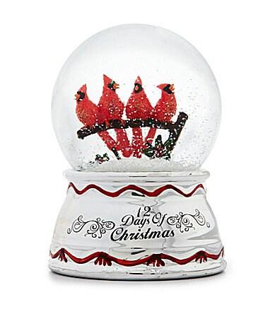 12 days of christmas four calling birds snow globe dillards com