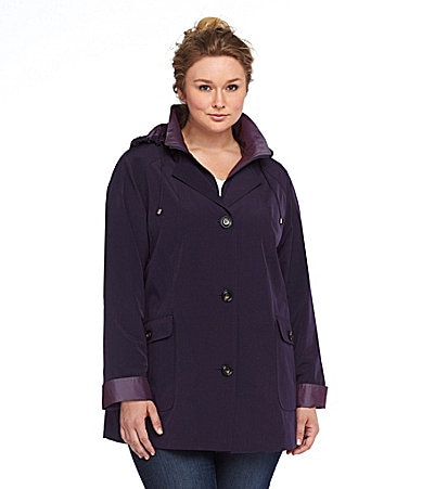 Gallery Woman Double-Collar A-Line Coat