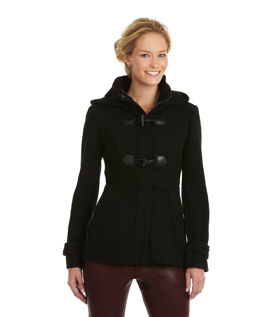 Jessica Simpson Woman Hooded Toggle Coat