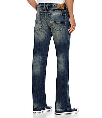 Buffalo David Bitton Six-Bullet Slim Straight-Leg Jeans