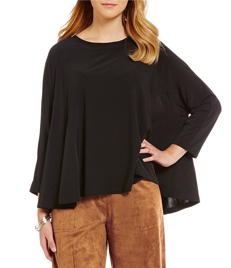 IC Collection 3/4 Sleeve Side Slit Swingy Top