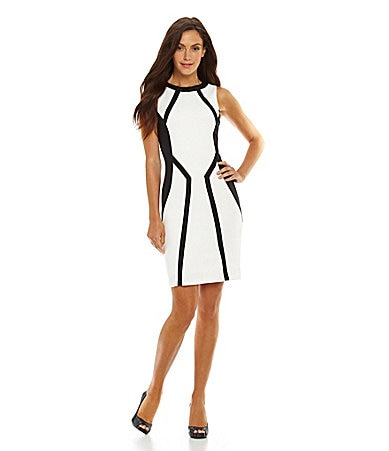Jessica Simpson Contrast Paneled Dress