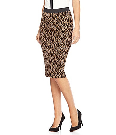 RD Style Leopard Pencil Skirt