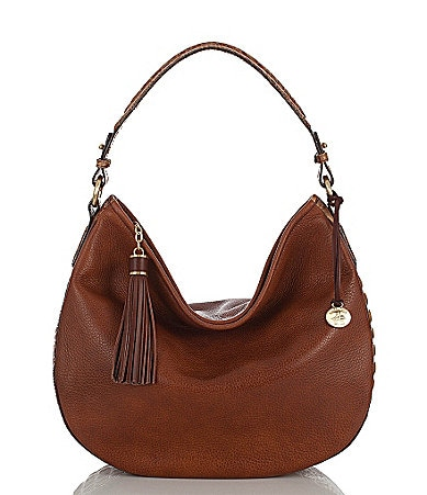 Brahmin Toasted Almond Tri-Color Collection Kathleen Hobo