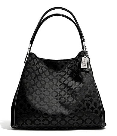COACH MADISON SMALL PHOEBE SHOULDER BAG IN OP ART SATEEN FABRIC