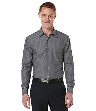 Perry Ellis Long-Sleeve Bold-Stripe Woven Shirt