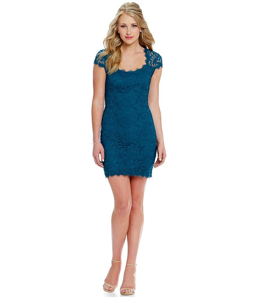 Jump Lace Sheath Dress