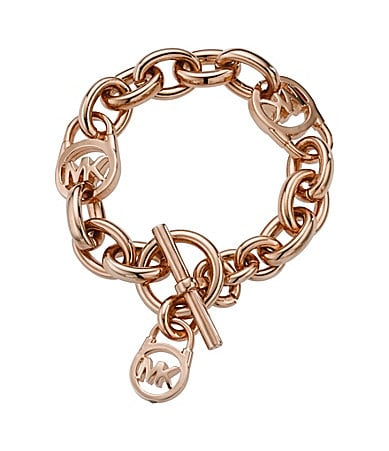 Michael Kors Rose Goldtone Toggle Bracelet