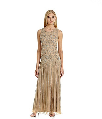 Pisarro Nights Paisley Sequin Dress