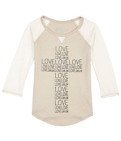 Forever Orchid 7-16 Love Cross Raglan Top $ 6.30