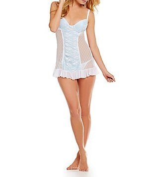 Cinema Etoile Point d´Espirit Mesh Push-Up Cup Babydoll Set