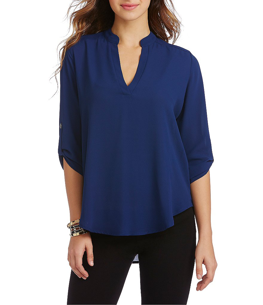 GB Solid Woven Blouse