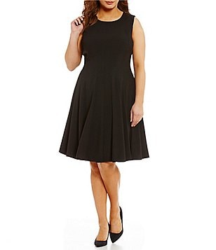 Calvin Klein Plus Sleeveless Fit-and-Flare Dress