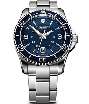 Victorinox Swiss Army Maverick Luminous Analog Stainless Steel Bracelet Watch