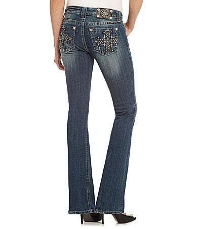 Miss Me Cross-Pocket Mid-Rise Jeans
