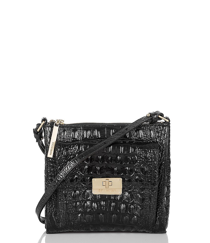 Brahmin Melbourne Collection Mimosa Croco-Embossed Cross-Body Bag