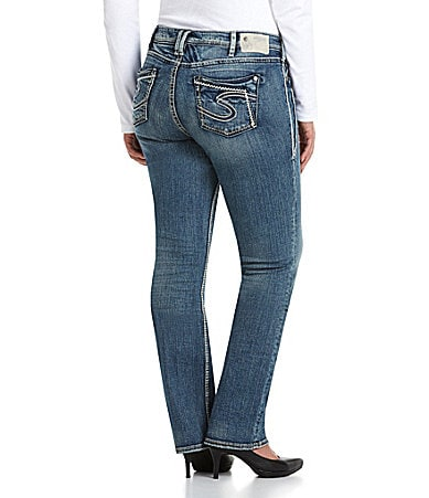 Silver Jeans Co. Woman Aiko Mid-Rise Straight Jeans