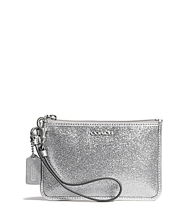 COACH SMALL WRISTLET IN GLITTER FABRIC