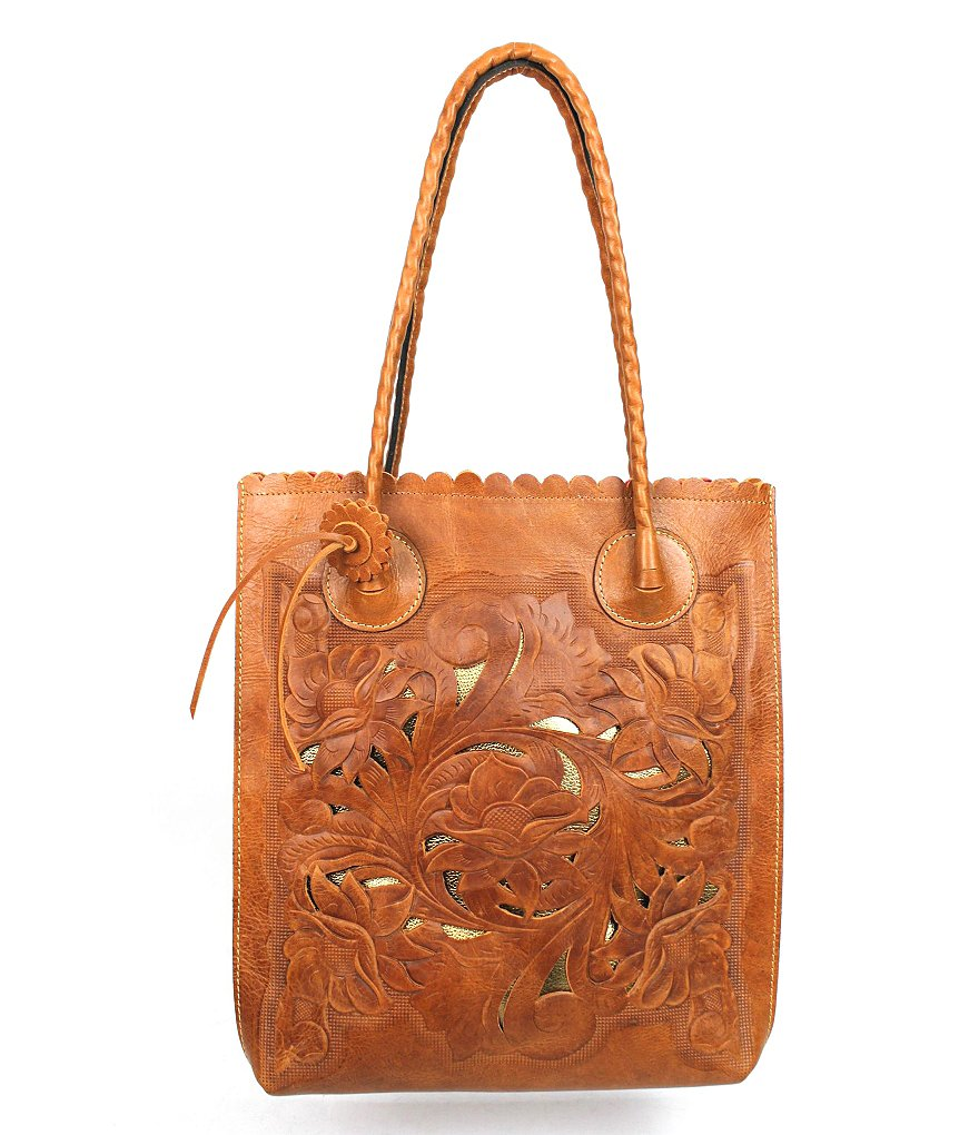 Patricia Nash Cavo Floral Embossed North/South Tote