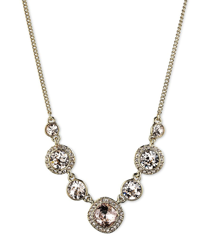 Givenchy Silk Crystal Frontal Necklace