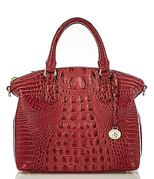 Brahmin Melbourne Collection Duxbury Croco-Embossed Satchel