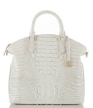Brahmin Melbourne Collection Large Duxbury Croco-Embossed Dome Satchel