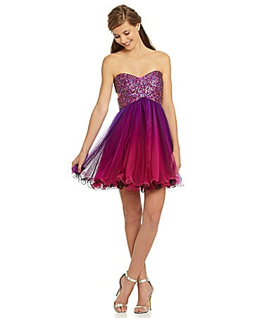 Blondie Nites Ombre Sequin Party Dress