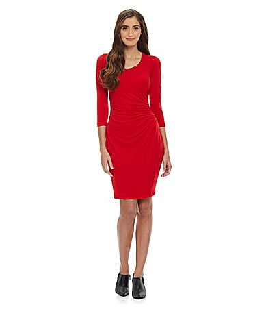 Calvin klein pleated side dress dillards com