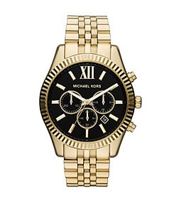 Michael Kors Lexington Gold Stainless Steel Chronograph Watch