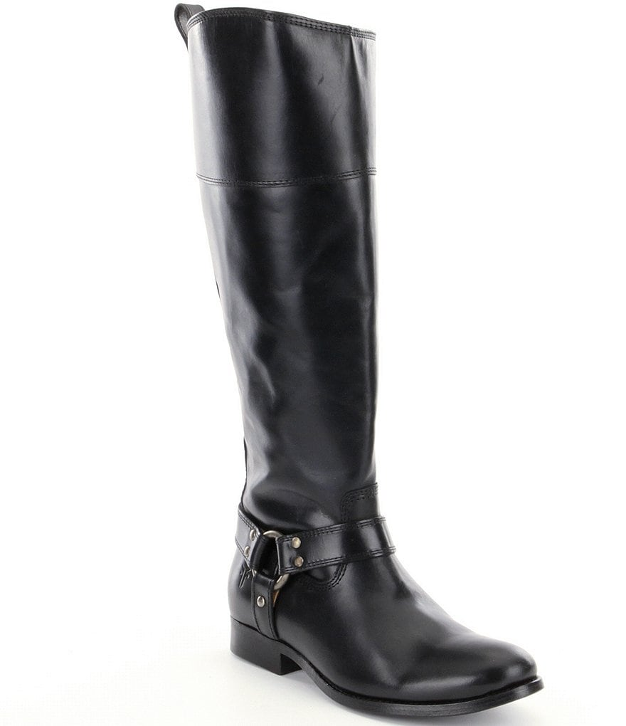 Frye Melissa Harness Wide Calf Riding Boots