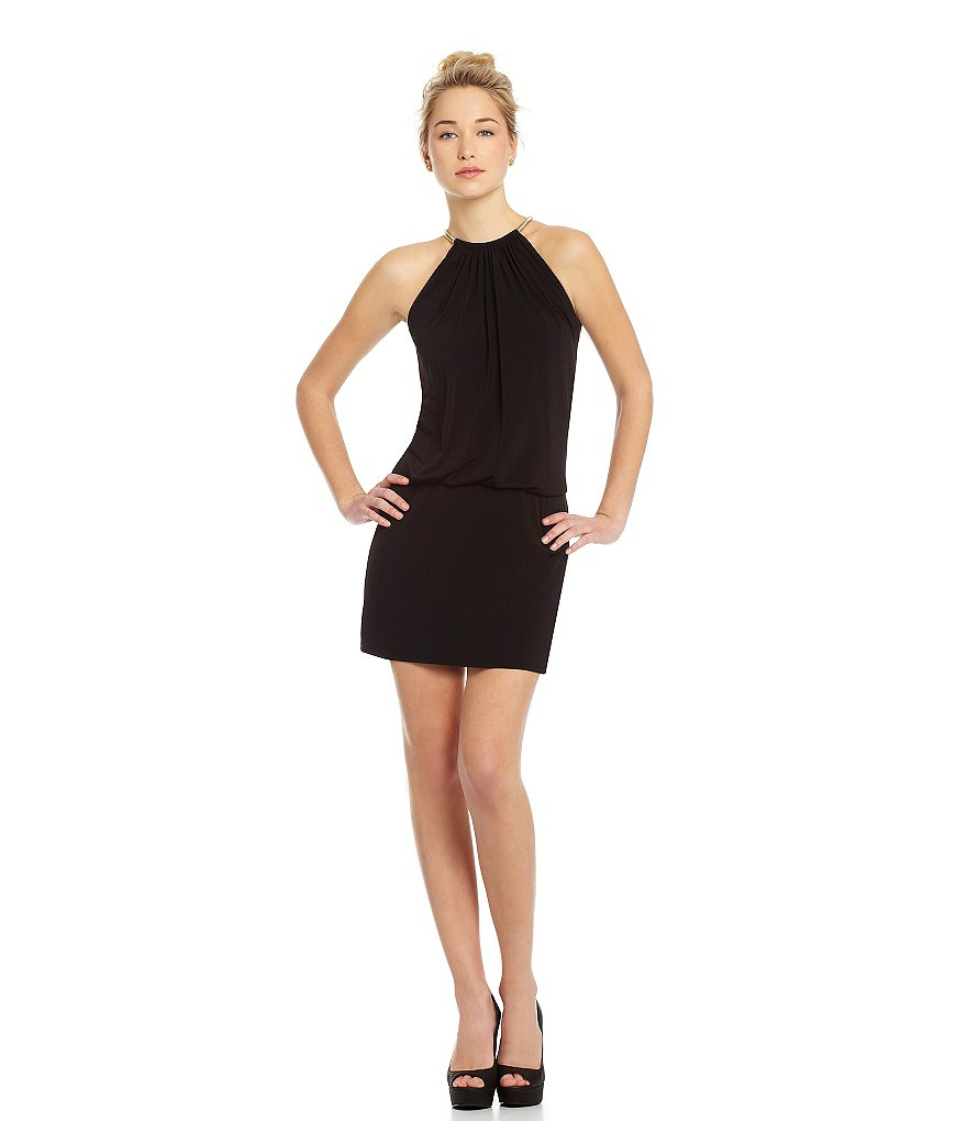 Jessica Simpson Halter Blouson Dress