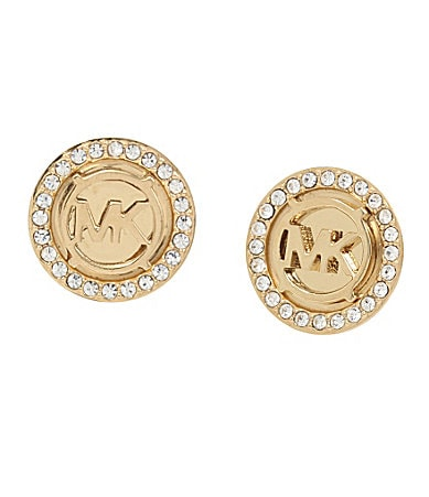 Michael Kors MK Monogram Stud Earrings