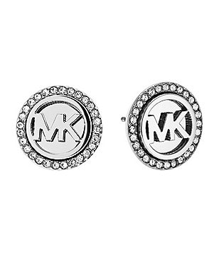 Michael Kors MK Monogram Pavé Crystal Stud Earrings
